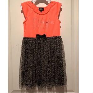 Lilt Girls  leopard tutu dress with rhinestones 6